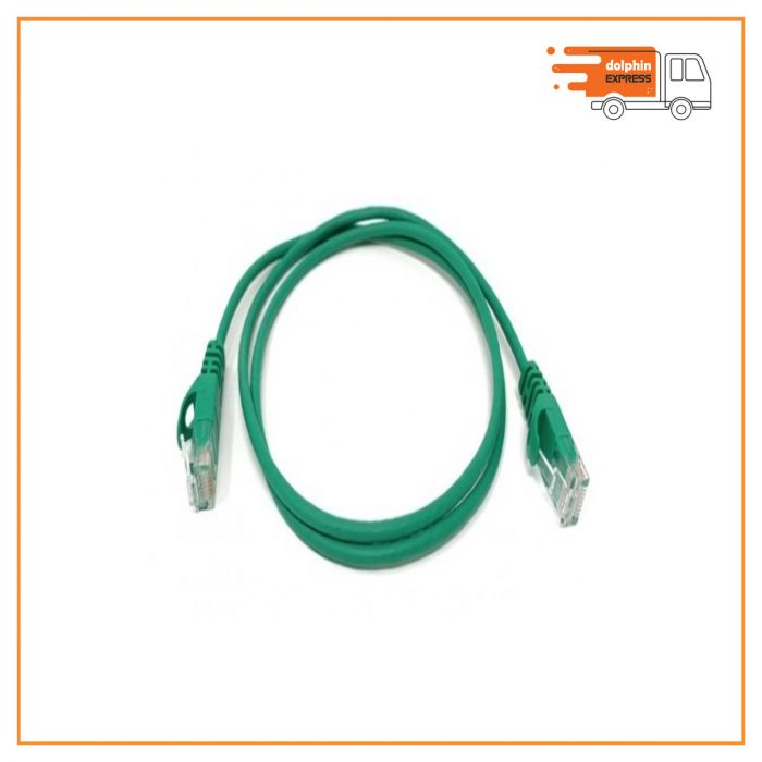 D-Link Cat-6, 1 Meter, Green Network Cable  Patch Cord
