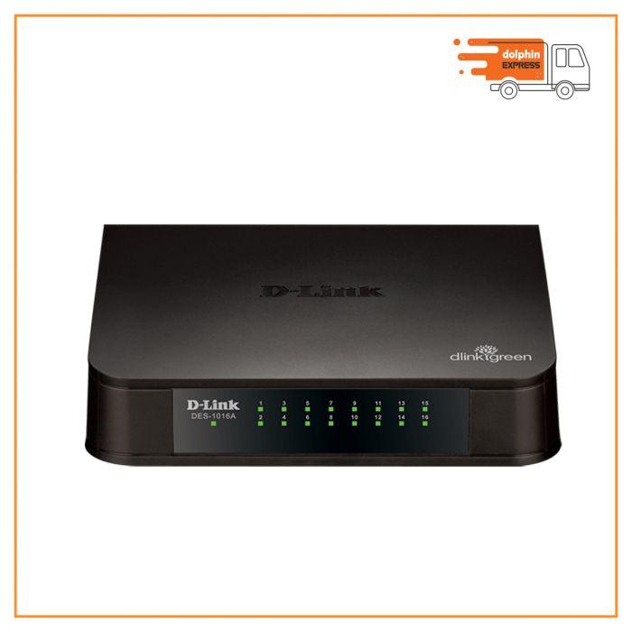 D-Link 16-port 10/100M Unmanaged Switch DES-1016A