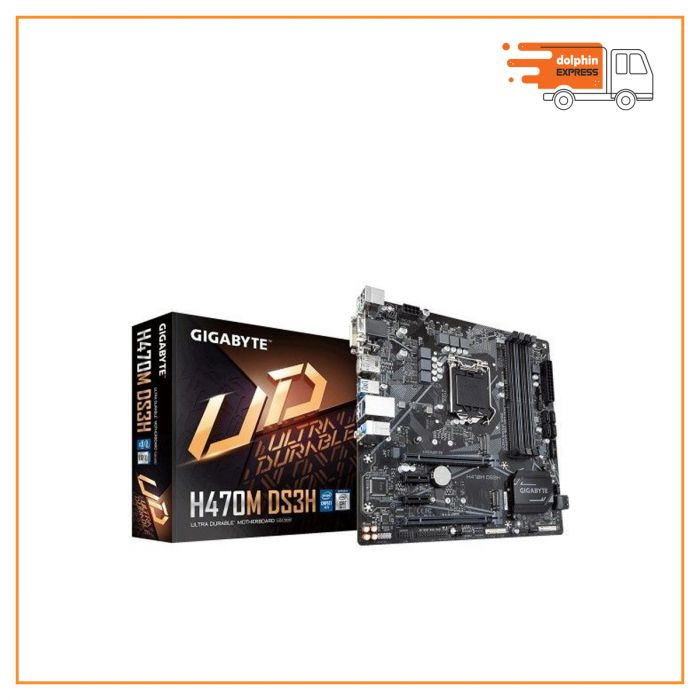 Gigabyte H470M DS3H 10th Gen Micro ATX Motherboard