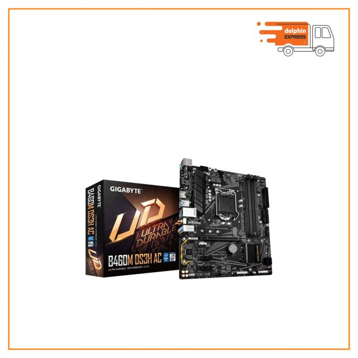 Gigabyte B460M DS3H AC 10th Gen Wi-Fi Micro ATX Motherboard