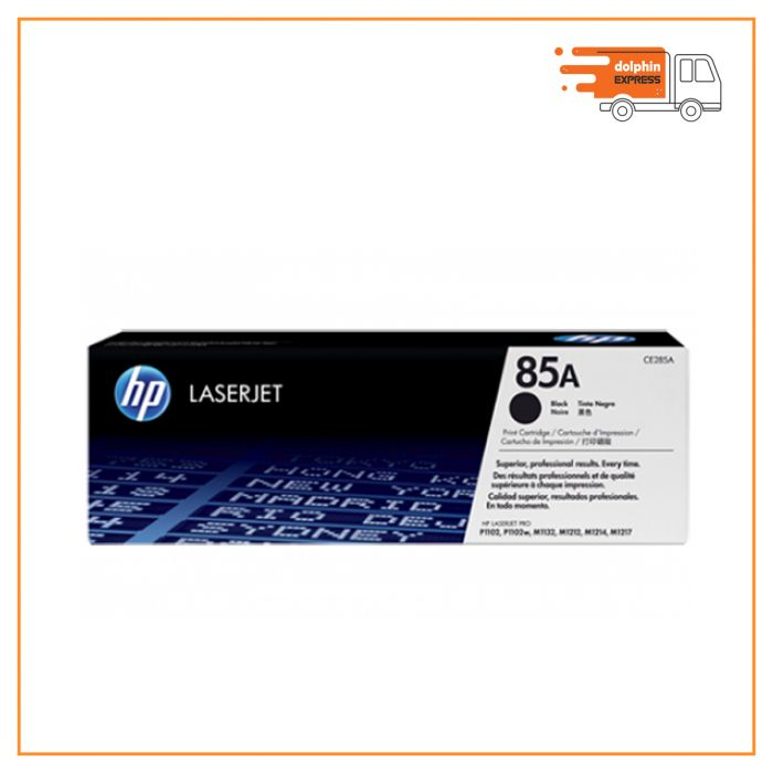 HP 85A Black Original LaserJet Toner Cartridge (For LJP1102, M1132, M1212)