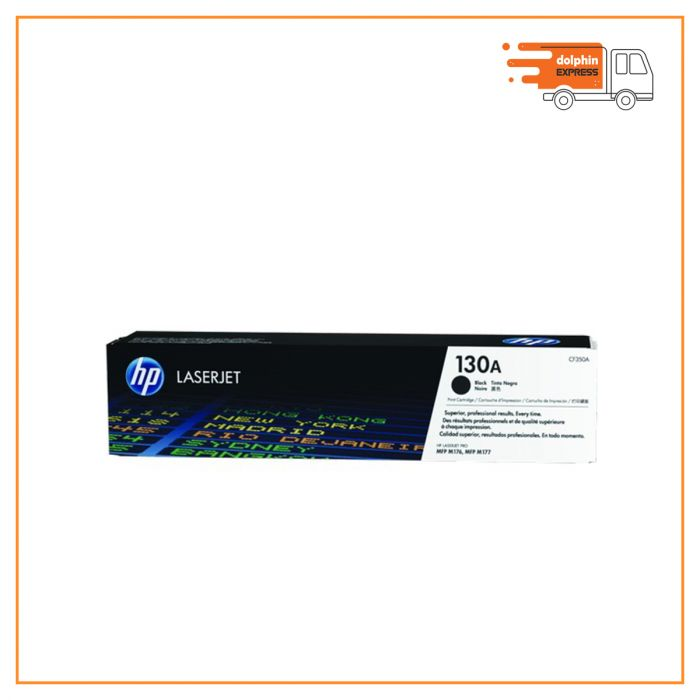 HP 130A Black Original LaserJet Toner Cartridge (CF350A)