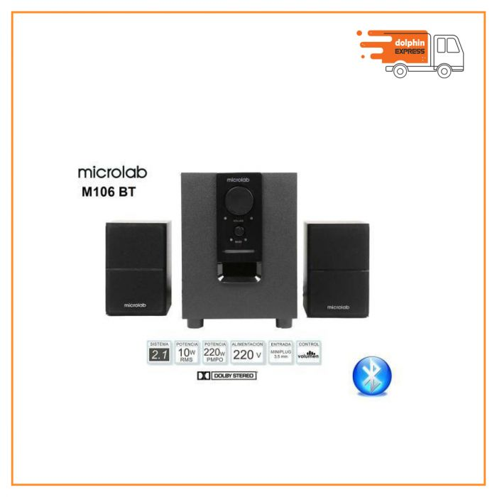 Microlab M106BT 2.1 Bluetooth Speaker