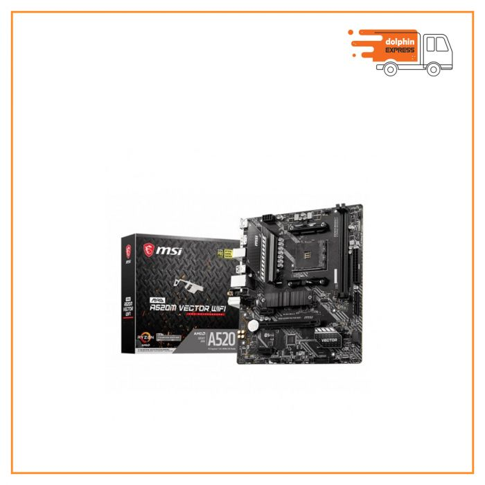 MSI MAG A520M Vector Wi-Fi AM4 AMD Micro-ATX Motherboard