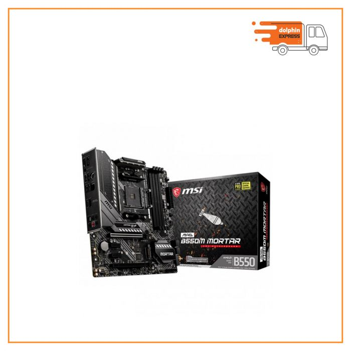 MSI MAG B550M Mortar AMD Micro ATX Gaming Motherboard