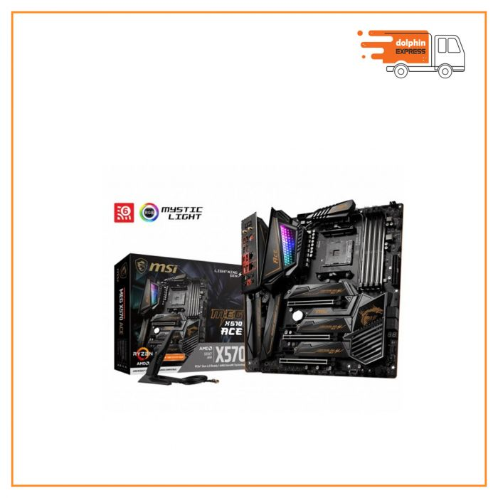 MSI MEG X570 ACE DDR4 2nd and 3rd Gen AMD AM4 Socket Motherboard
