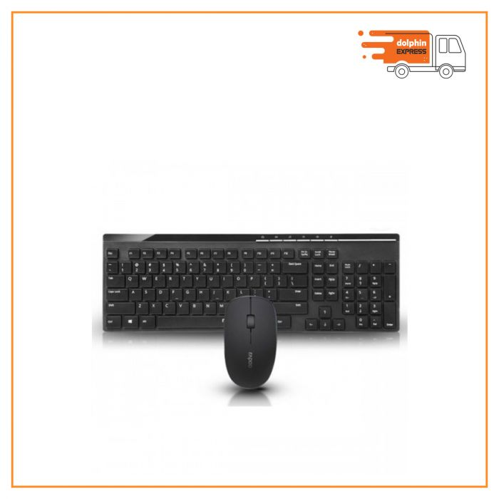 Rapoo X8100 Wireless Multimedia Keyboard & Mouse Combo Black