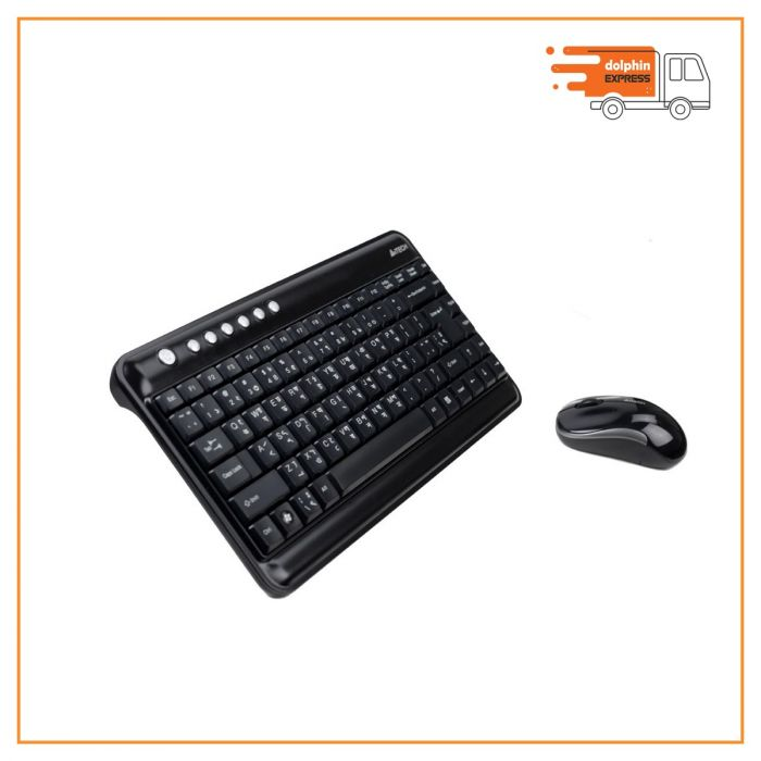 A4 Tech 3300N Wireless Keyboard & Padless Mouse Combo with Bangla