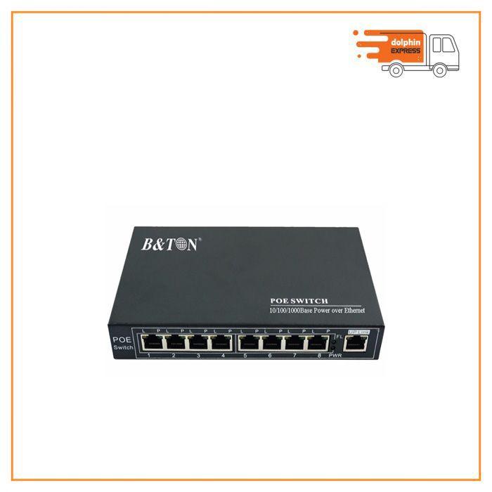 B& Ton BT-6009GS 8 port full gigabit 1000Mbps PoE switch