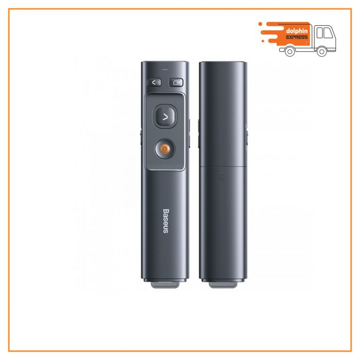 Baseus ACFYB-0G Orange Dot Wireless Presenter Red Laser Grey