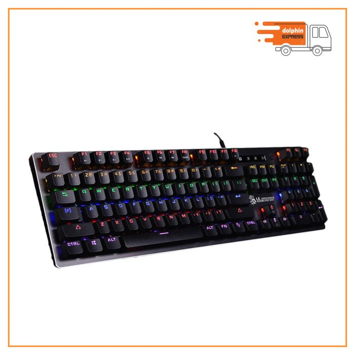 A4 Tech Bloody B760 Gray USB Full Light Strike Gaming Keyboard